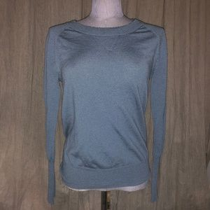 j. crew chambray blue TIPPI beaded sweater M